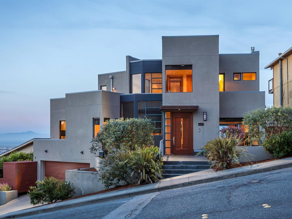 Telescope Hill home for sale overlooking bay and San Francisco airport